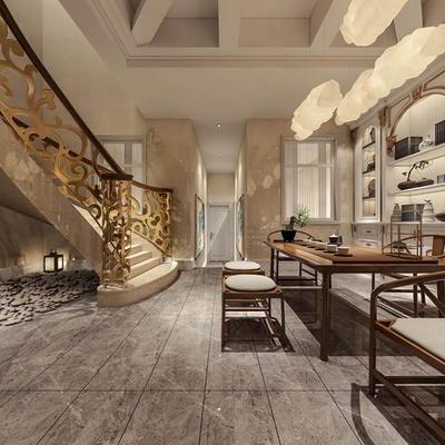 欧式公寓客厅07