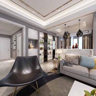 现代公寓客厅