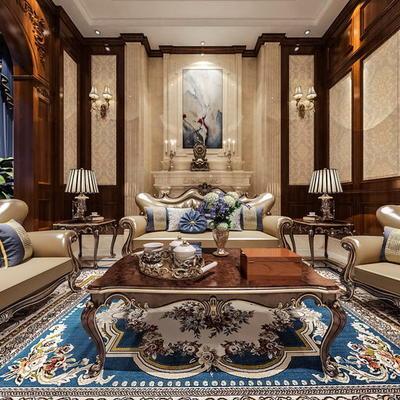 欧式公寓客厅06