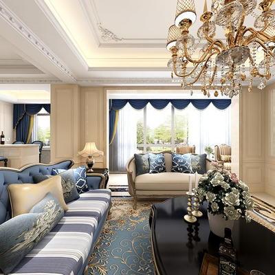 欧式公寓客厅04